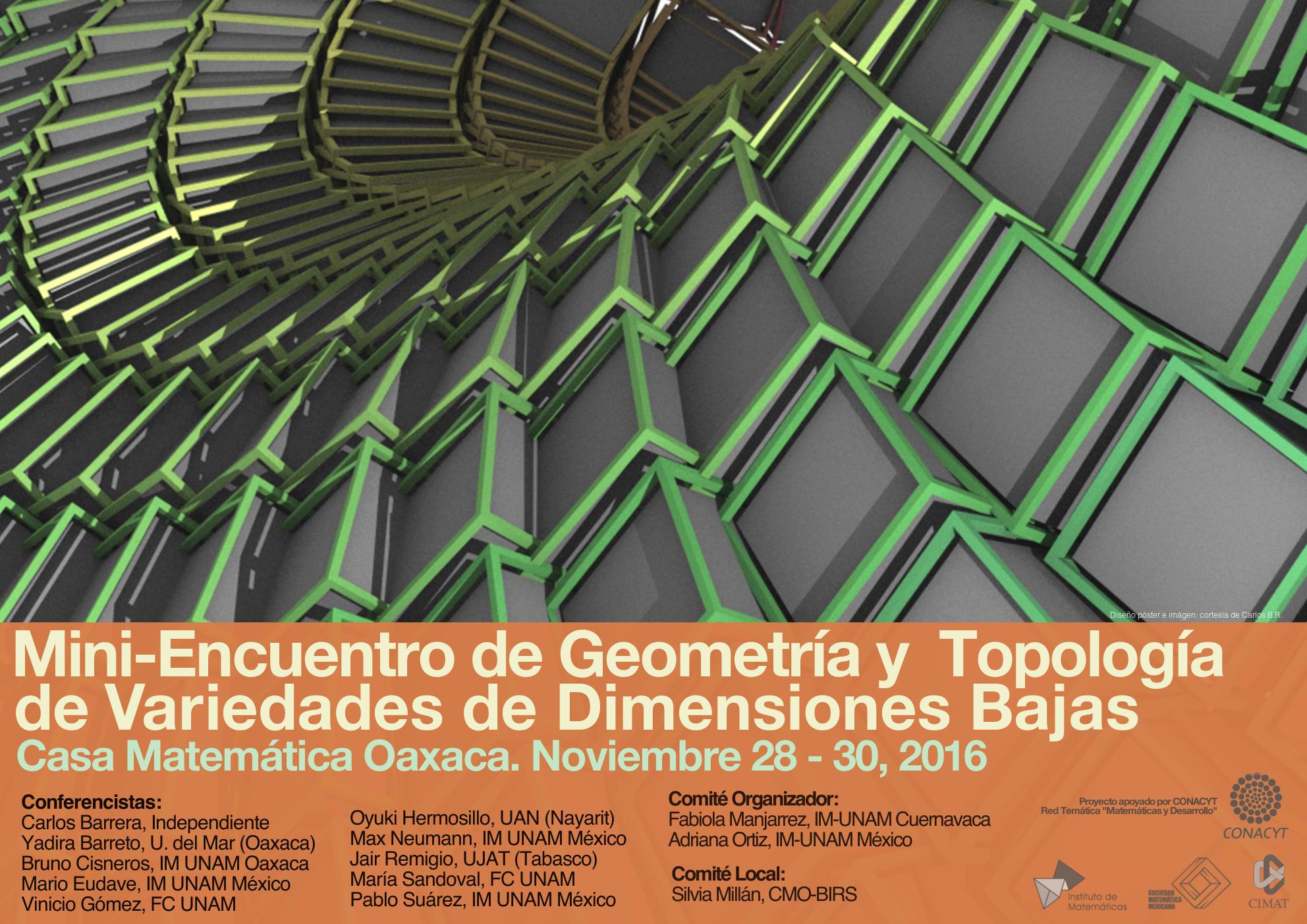 Mini-Encuentro de Geometría y Topología en Variedades de Dimensiones Bajas