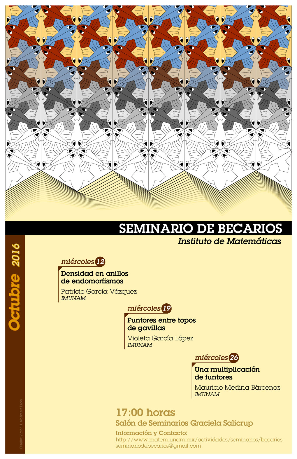 Octubre: Sesiones para Seminario de Becarios