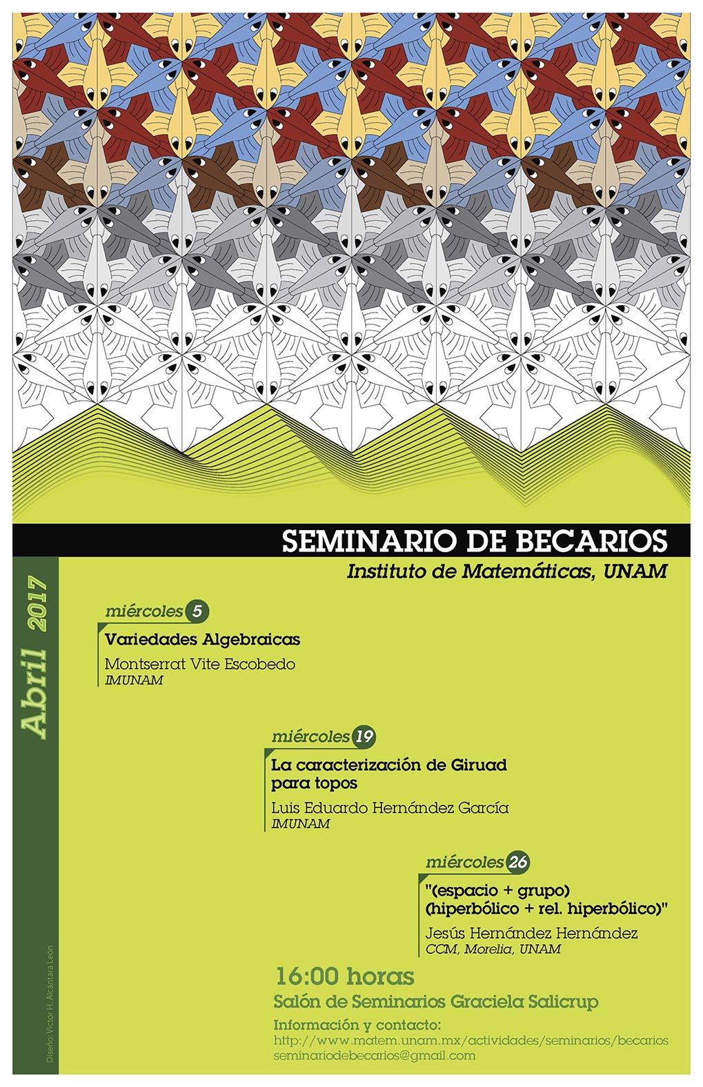 Abril: Sesiones para Seminario de Becarios