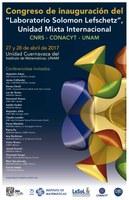 """Congreso de Inauguración del """"Laboratorio Solomon Lefschetz"""", Unidad Mixta Internacional"""