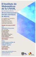 En marzo: ¡Matemáticas y muchos libros en la Feria Internacional del Libro de Palacio de Minería!