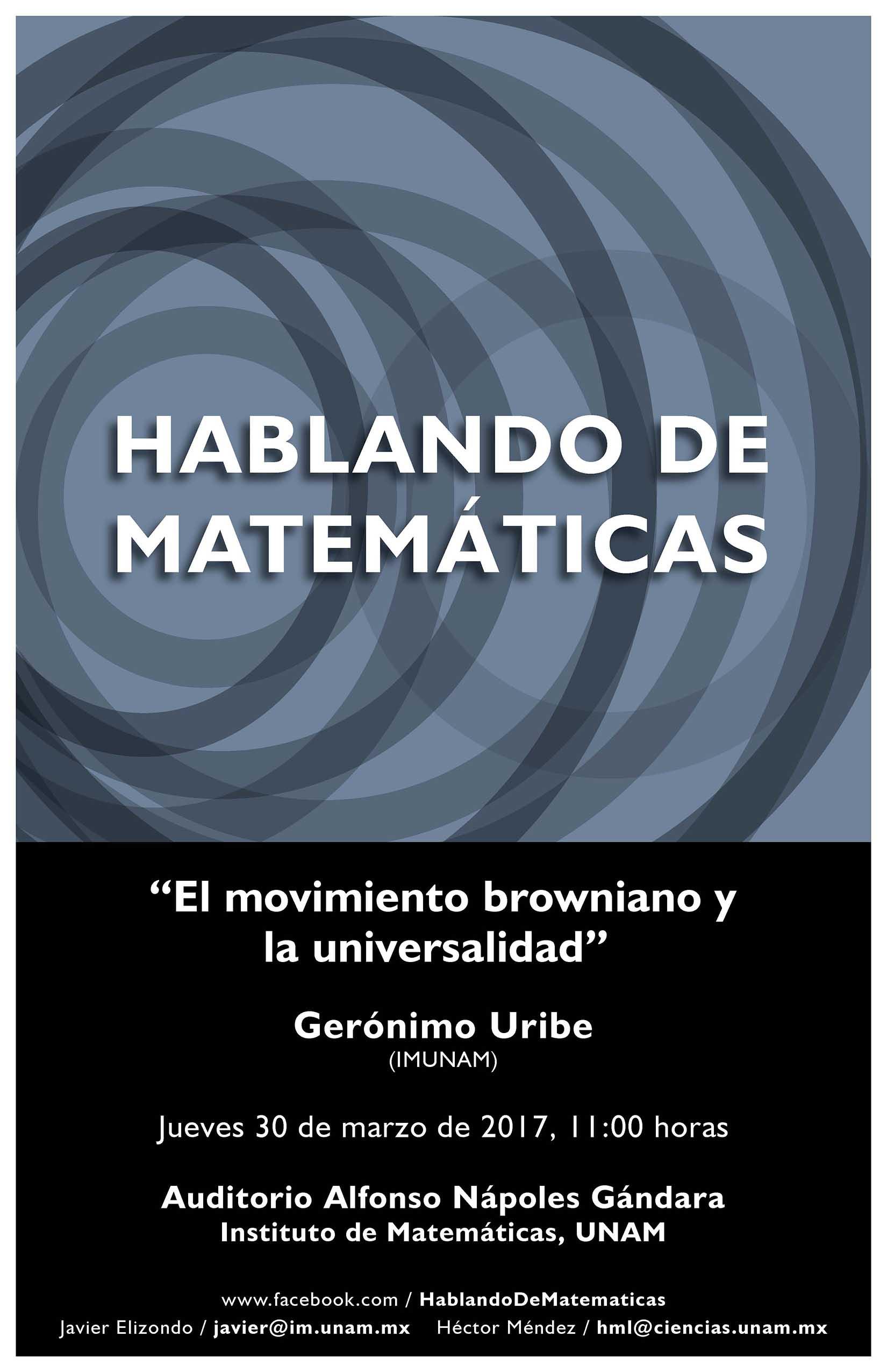 Hablando de Matemáticas: Gerónimo Uribe, IMUNAM