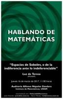 Hablando de Matemáticas: Luz de Teresa, IMUNAM