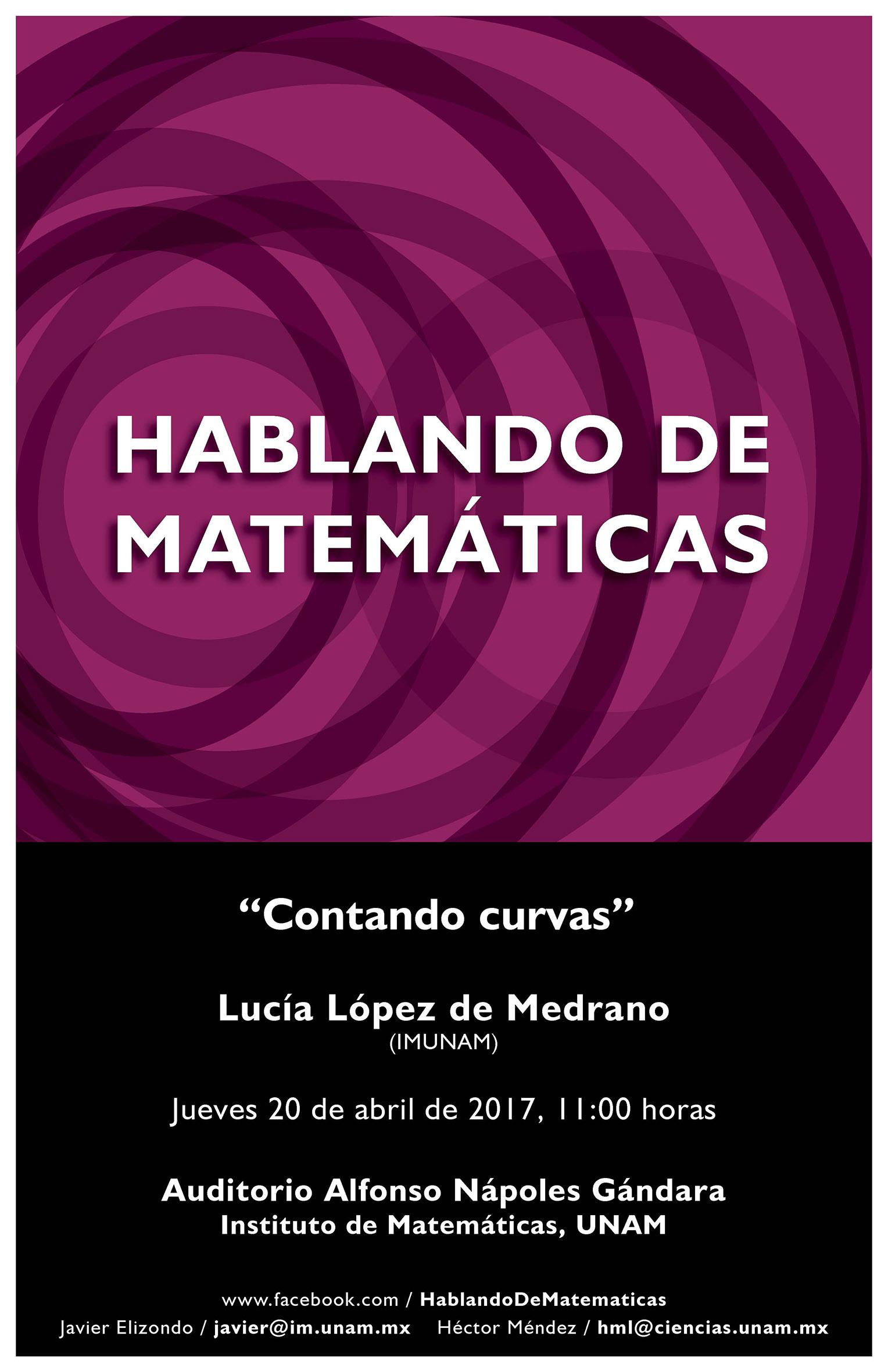 Hablando de Matemáticas: Lucía López de Medrano, IMUNAM
