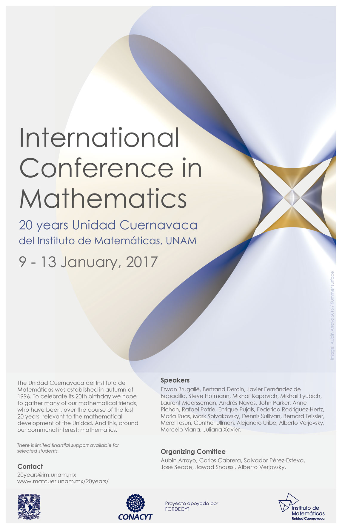 International Conference in Mathematics. 20 años Unidad Cuernavaca del Instituto de Matemáticas
