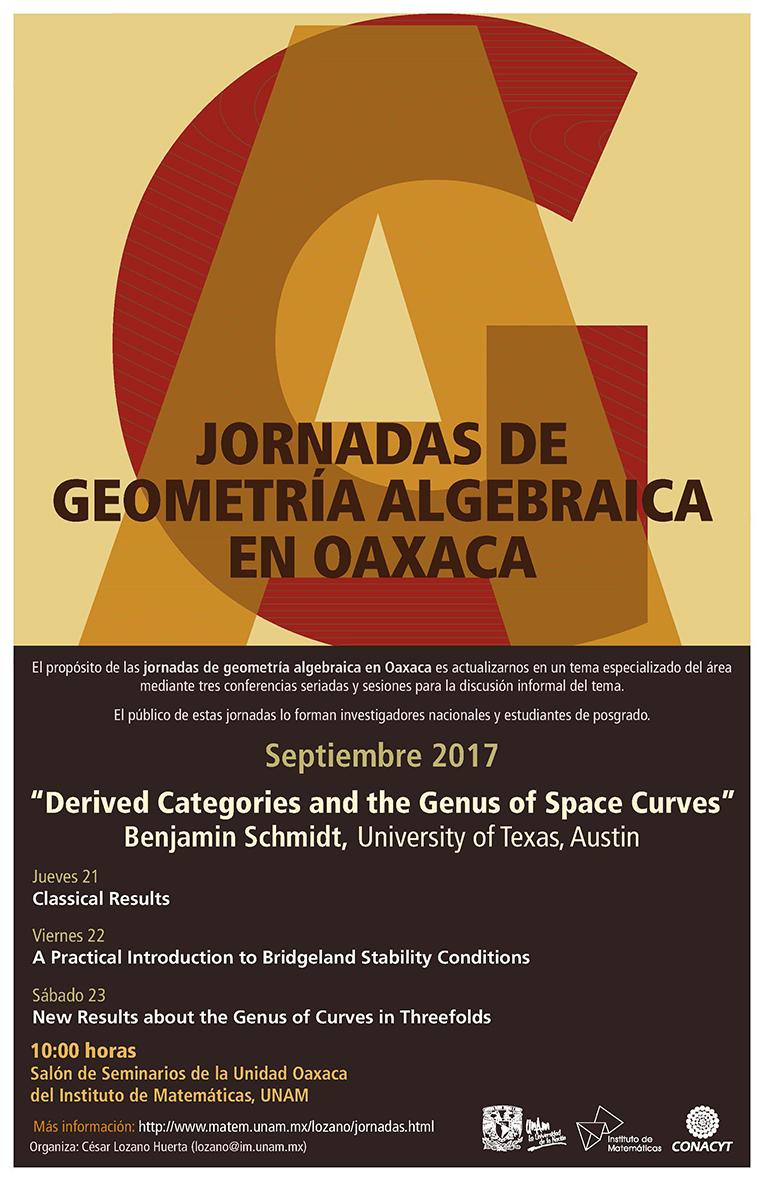 Jornadas de geometría algebraica en Oaxaca