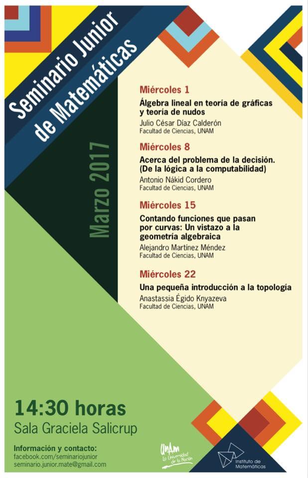 Marzo: Sesiones para el Seminario Junior