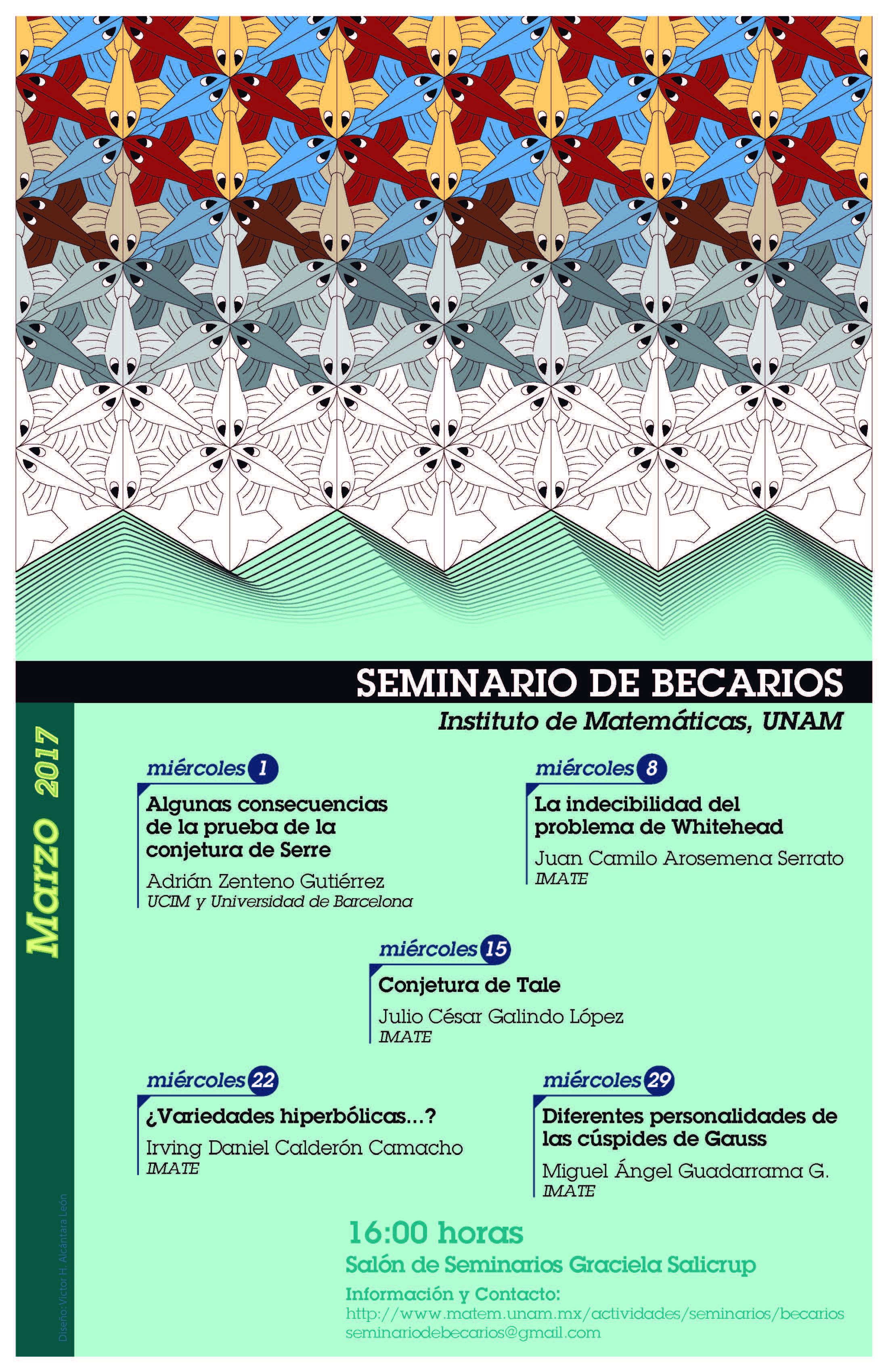 Marzo: Sesiones para Seminario de Becarios