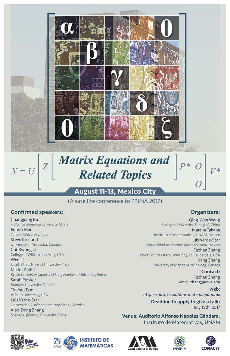 Matrix Equations and Related Topics