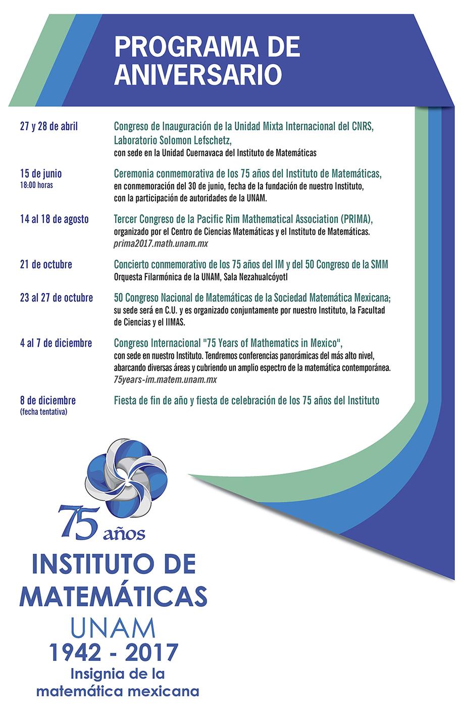 Programa del 75 Aniversario