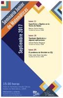 Septiembre: Sesiones para el Seminario Junior de Matemáticas