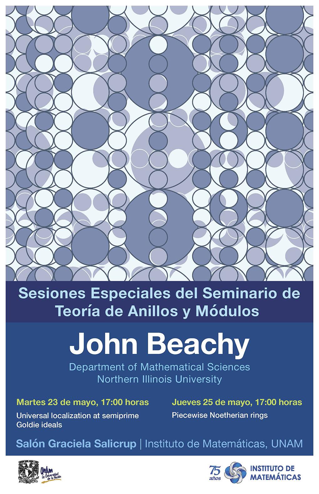 Sesiones Especiales del Seminario de Teoría de Anillos y Módulos