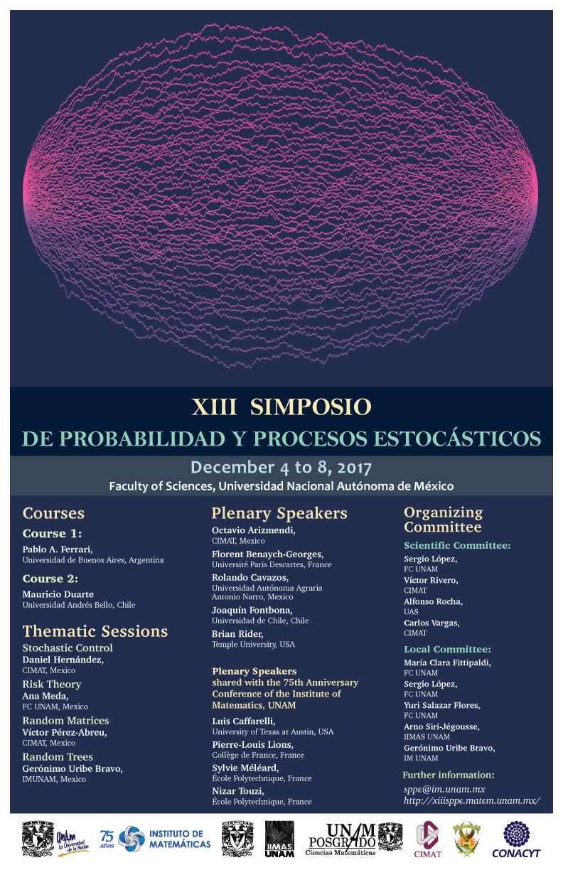 XIII Simposio de Probabilidad y Procesos Estocásticos