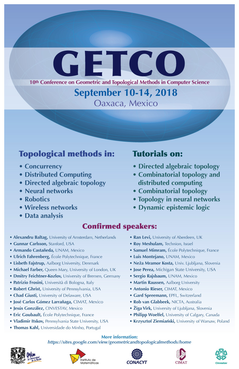 10th Conference on Geometric and Topological Methods in Computer Science (GETCO)