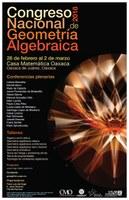 Congreso Nacional de Geometría Algebraica, 2018