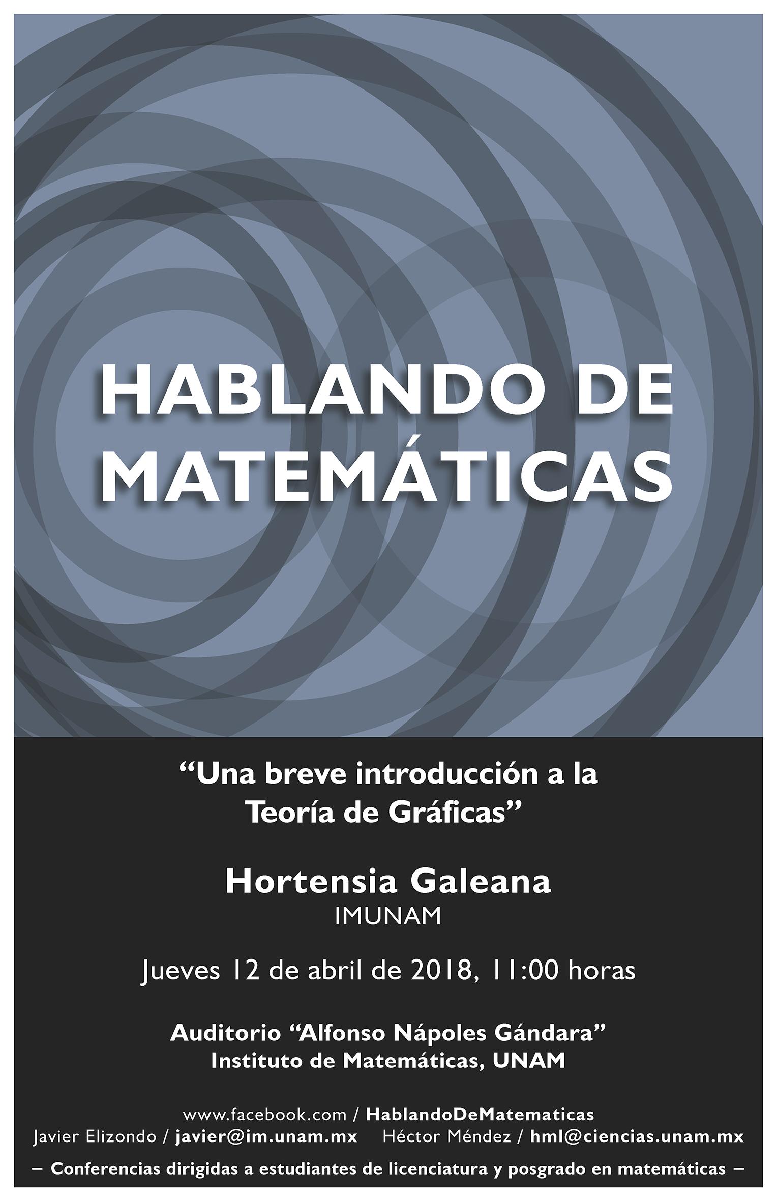 Hablando de Matemáticas: Hortensia Galeana, IMUNAM