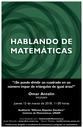 Hablando de Matemáticas: Omar Antolín, IMUNAM
