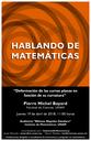 Hablando de Matemáticas: Pierre Michel Bayard, Facultad de Ciencias, UNAM