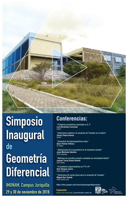 Simposio Inaugural de Geometría Diferencial