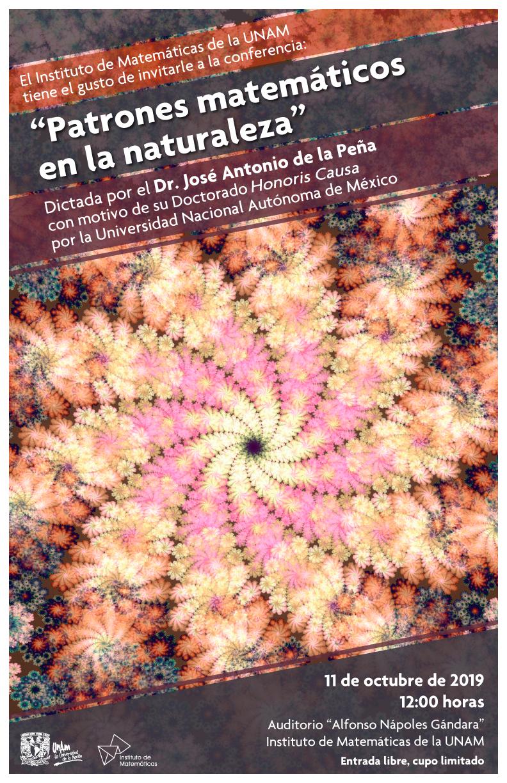 """Conferencia: """"Patrones matemáticos en la naturaleza"""""""