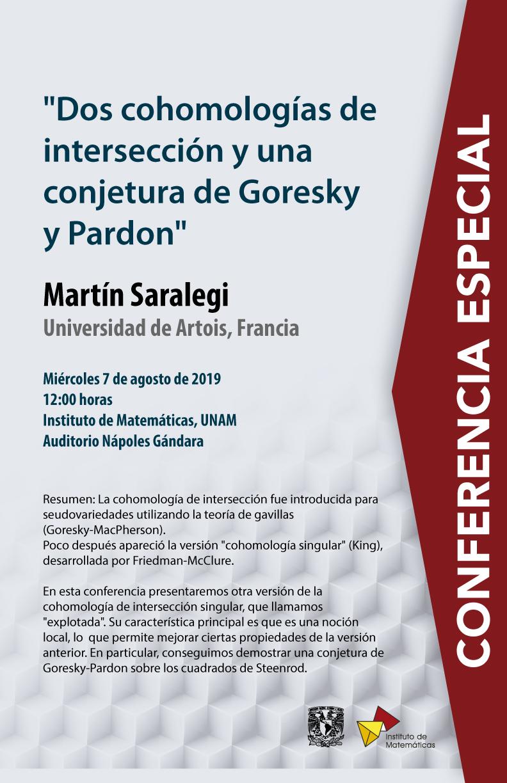 Conferencia Especial: Dos cohomologías de intersección y una conjetura de Goresky y Pardon