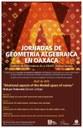 Jornadas de Geometría Algebraica en Oaxaca en abril de 2019