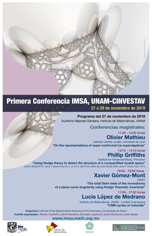 Primera Conferencia IMSA, UNAM-Cinvestav