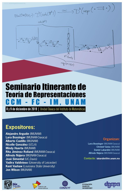 Seminario Itinerante CCMUNAM-CIMAT-IMUNAM de Teoría de Representaciones