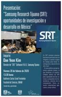 """Presentación: """"Samsung Research  Tijuana (SRT) oportunidades de investigación y desarrollo en México"""" SRT"""