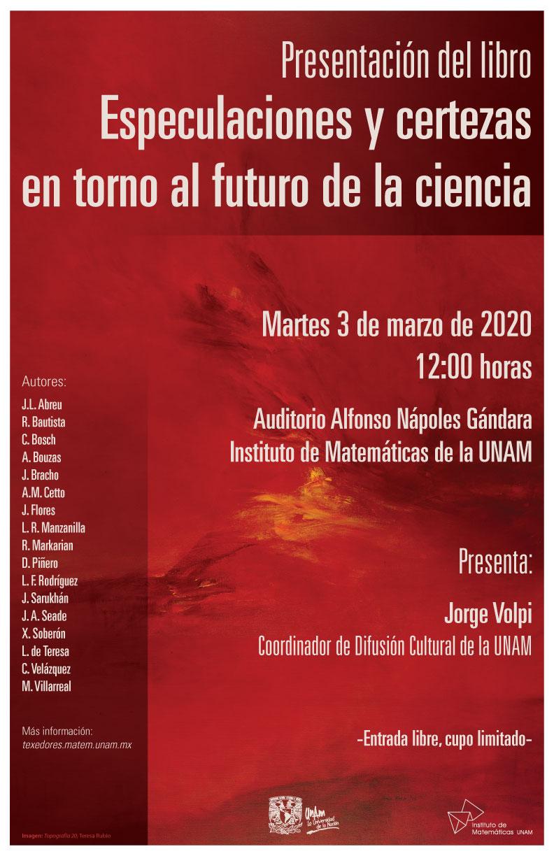 Presentación del libro Especulaciones y certezas en torno al futuro de la ciencia