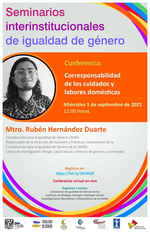 Conferencia CInIG: Corresponsabilidad de los cuidados y labores domésticas