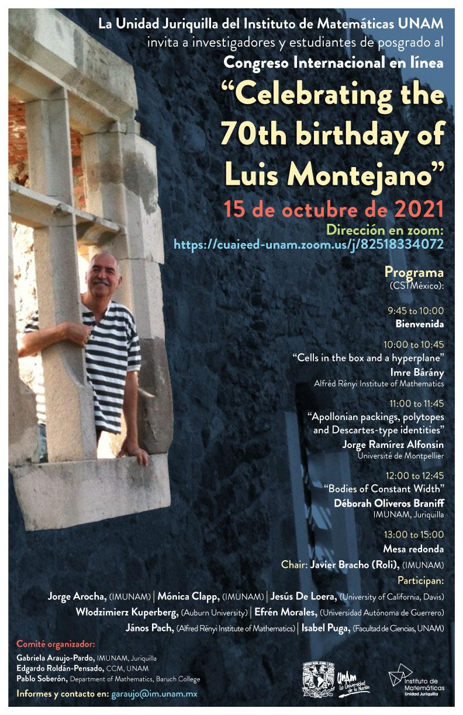 """Congreso internacional en línea: """"Celebrating the 70th birthday of Luis Montejano"""""""