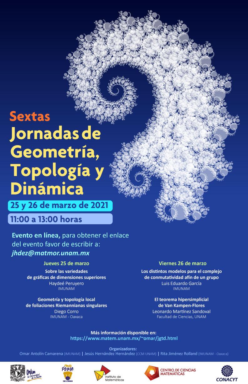 Sextas Jornadas de Geometría, Topología y Dinámica