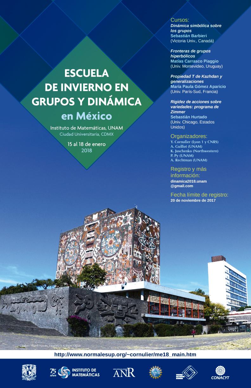 Escuela de invierno en grupos y dinámica en México