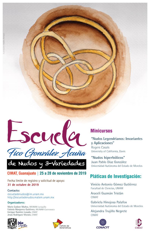 """Escuela """"Fico González Acuña"""" de Nudos y 3-variedades (EN3V 2019)"""