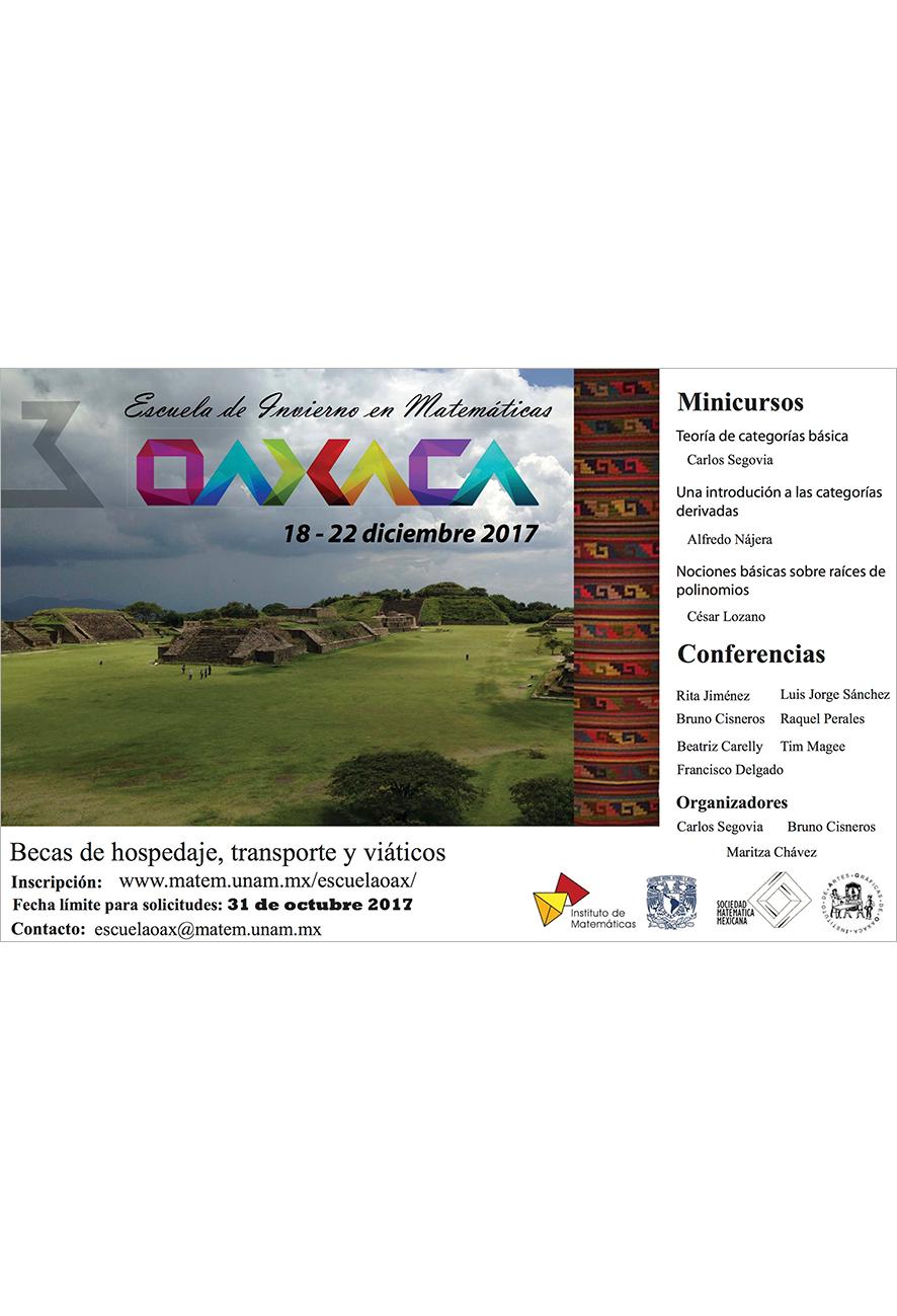 Tercer Escuela de Invierno en Matemáticas, Oaxaca