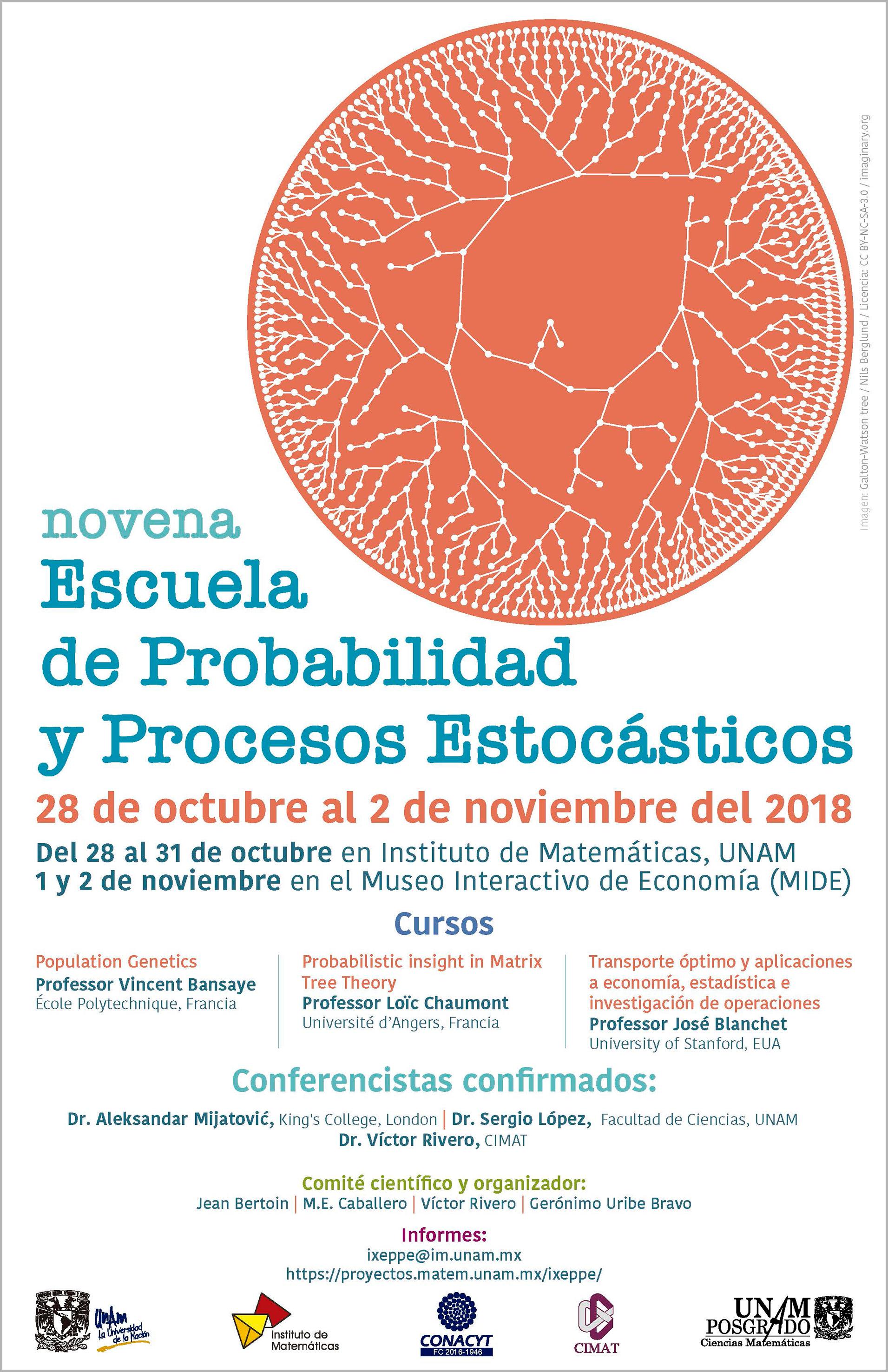 IX Escuela de Probabilidad y Procesos Estocásticos