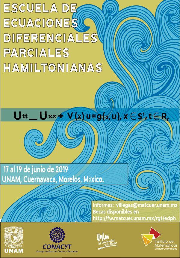 Escuela de Ecuaciones Diferenciales Parciales Hamiltonianas