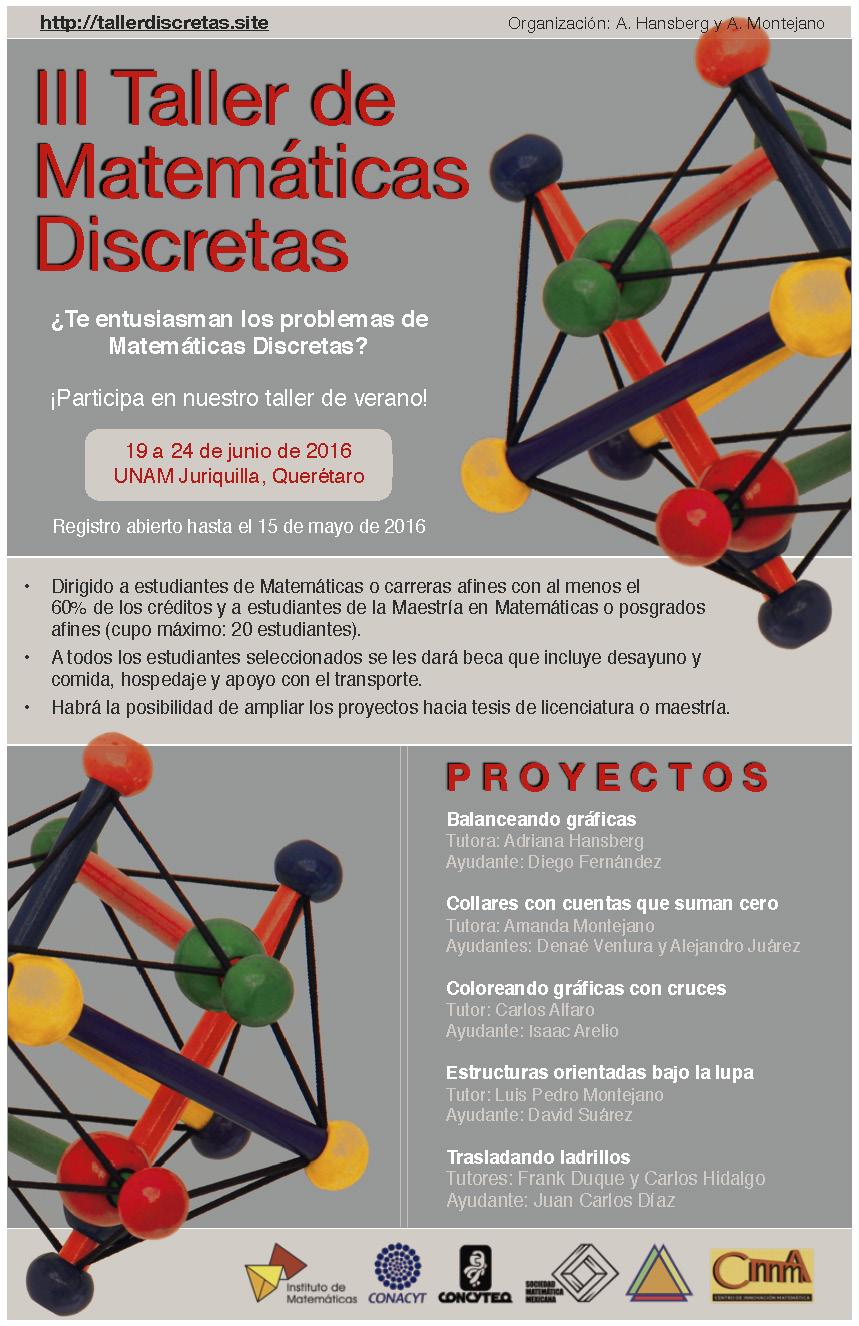 III Taller de Matemáticas Discretas