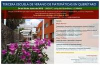 Tercera Escuela de Verano de Matemáticas en Querétaro