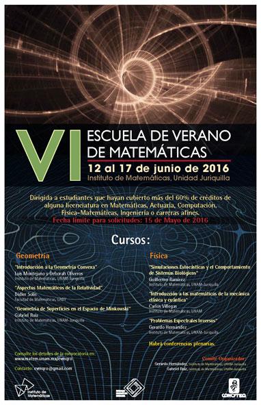 VI Escuela de Verano de Matemáticas