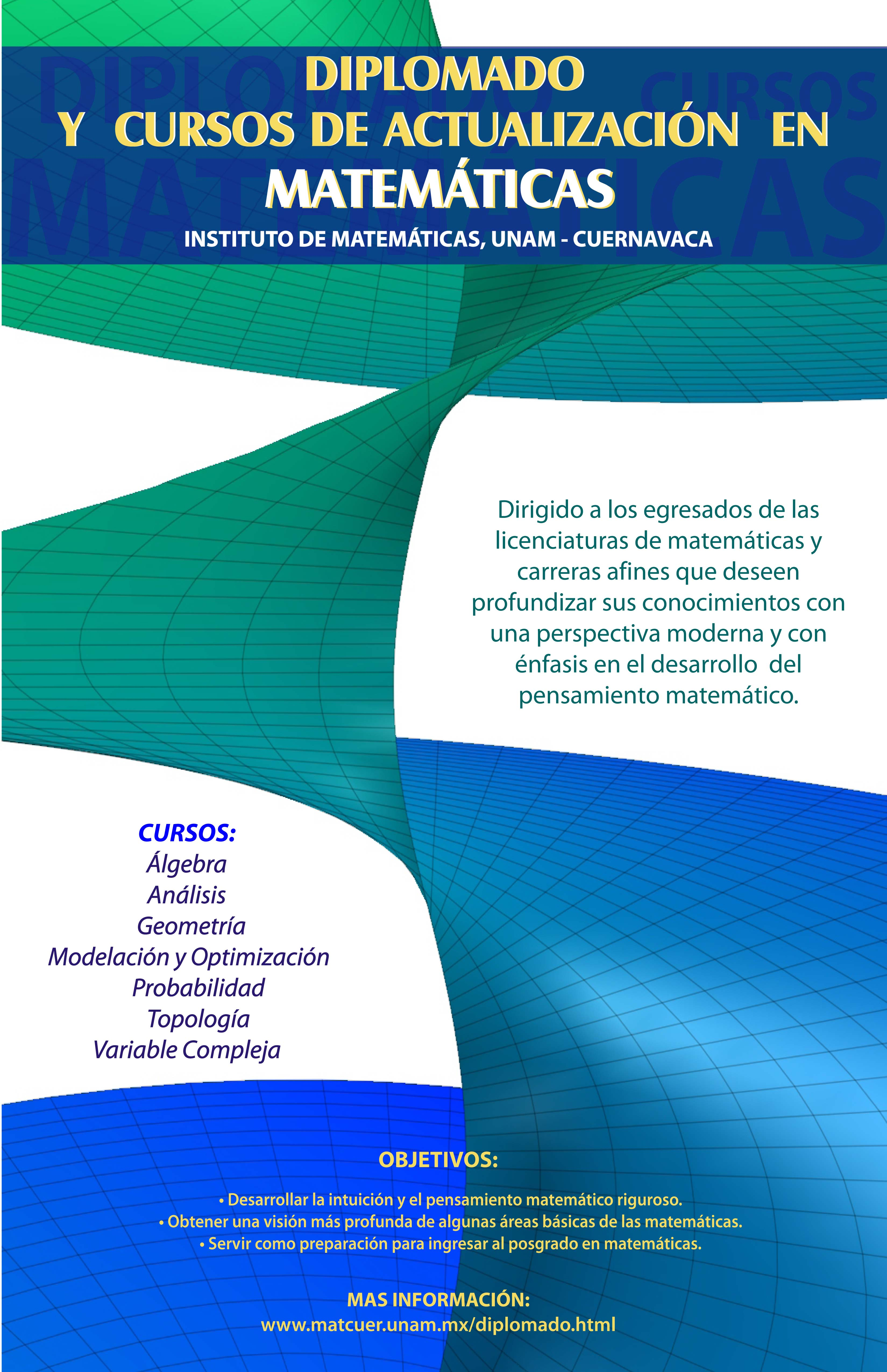 Diplomado y cursos de actualización en Matemáticas