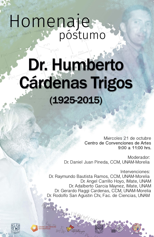 Homenaje a Dr. Humberto Cárdenas en Congreso de la SMM