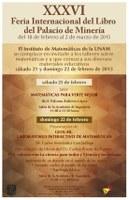 XXXVI Feria Internacional del Libro del Palacio de Minería