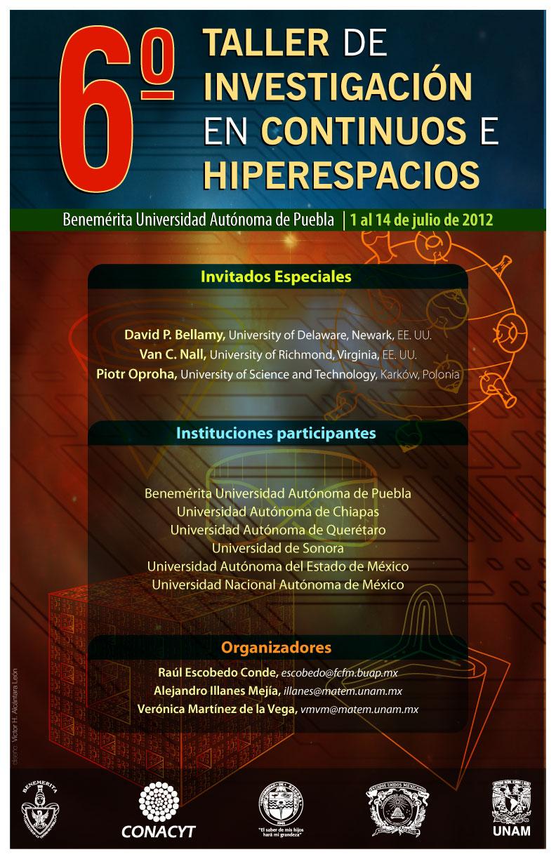 6° Taller de Investigación en Continuos e Hiperespacios