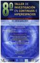 8vo. Taller de Investigación en Continuos e Hiperespacios