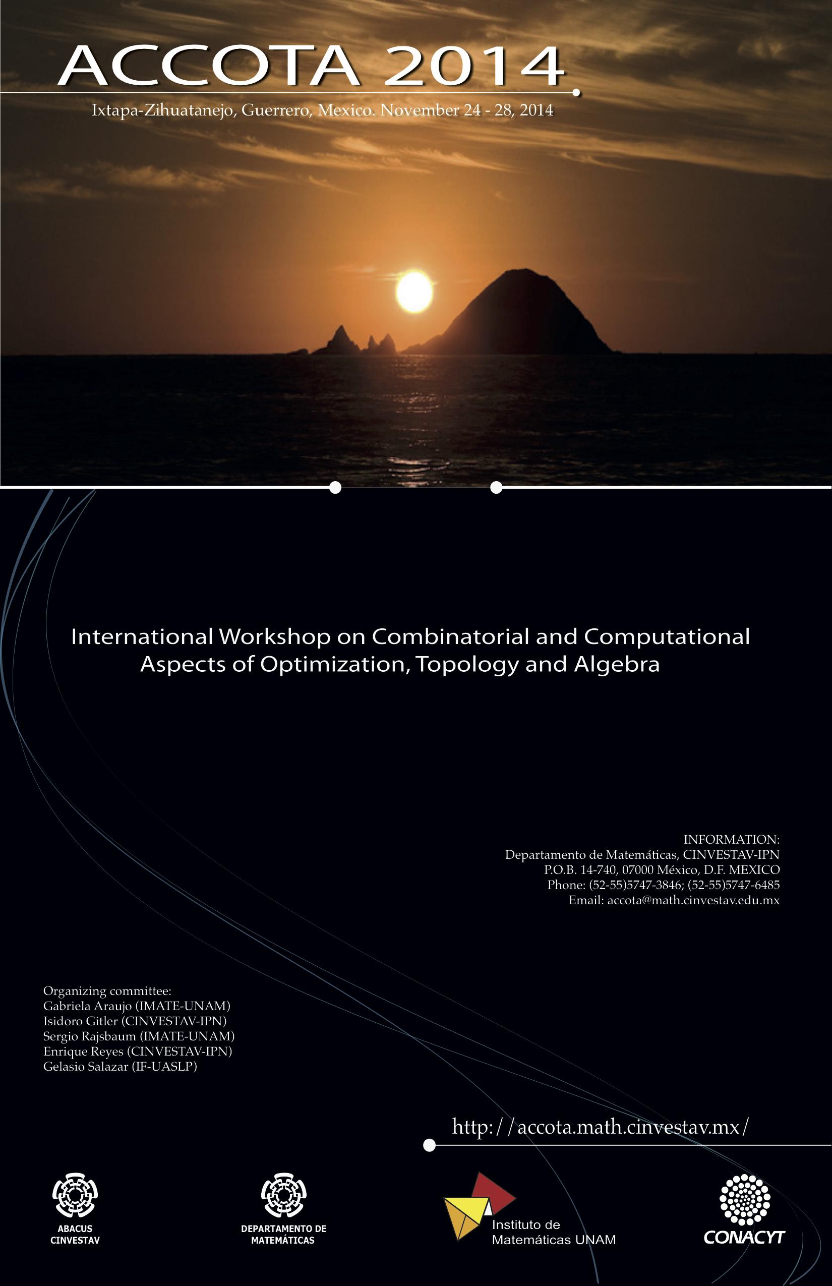 Aspectos Combinatorios y Computacionales de Optimización, Topología y Algebra