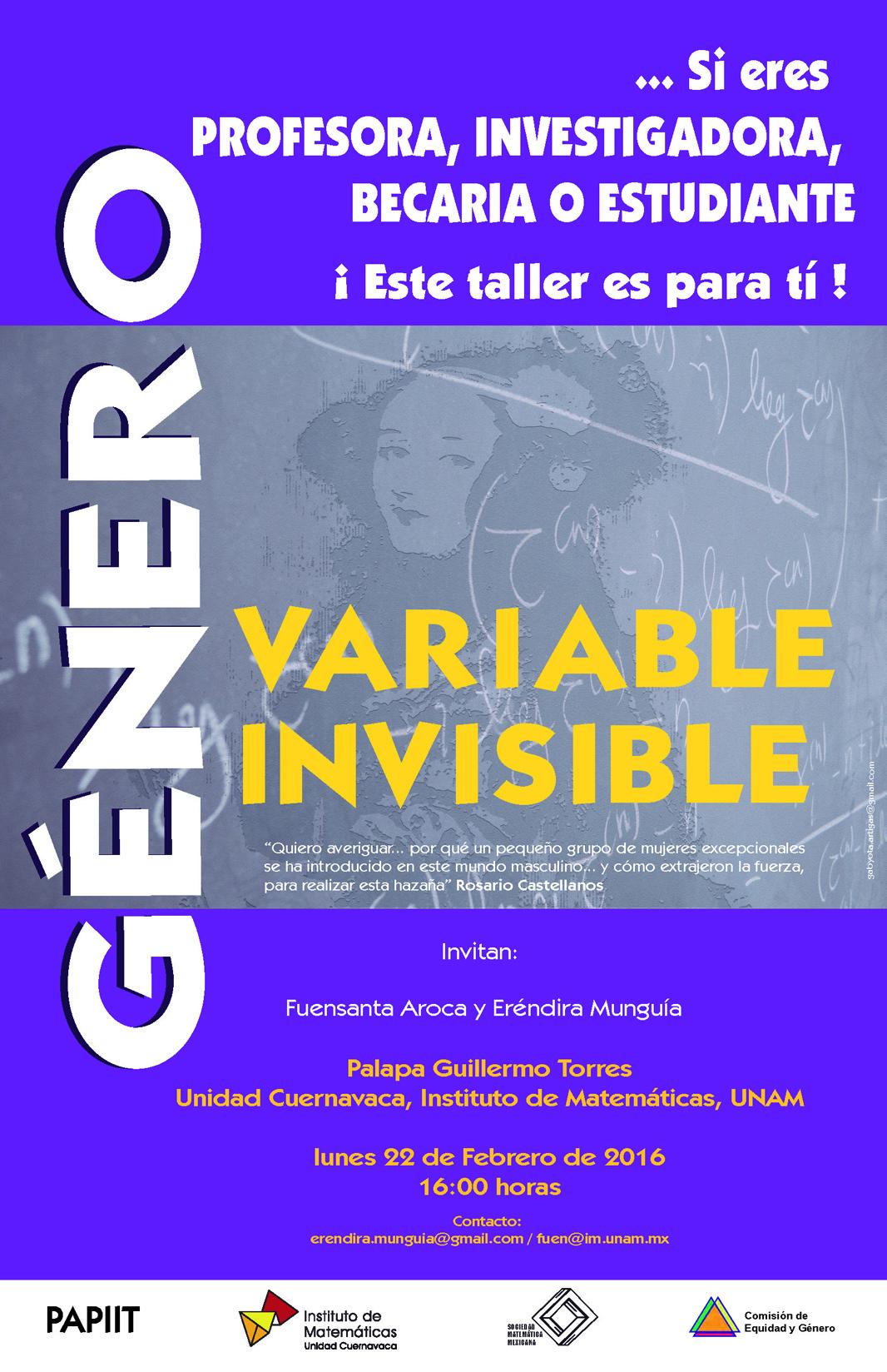 Taller Género: Variable Invisible