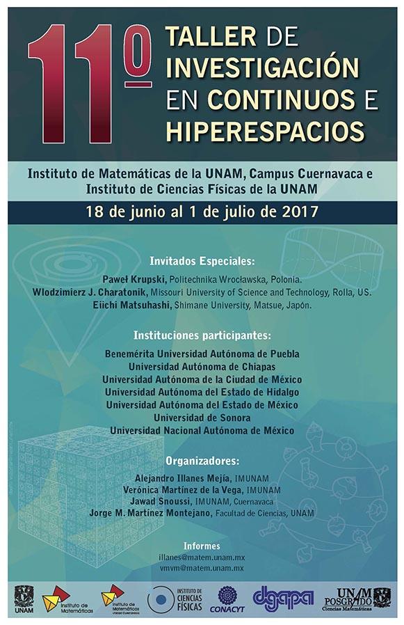 11º Taller de investigación de Continuos e Hiperespacios
