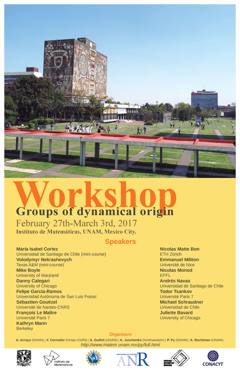 Workshop: Groups of dynamical origin